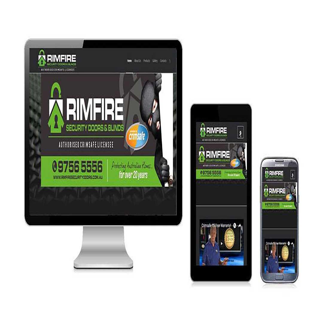 Rimfire Security Website Design Sydney